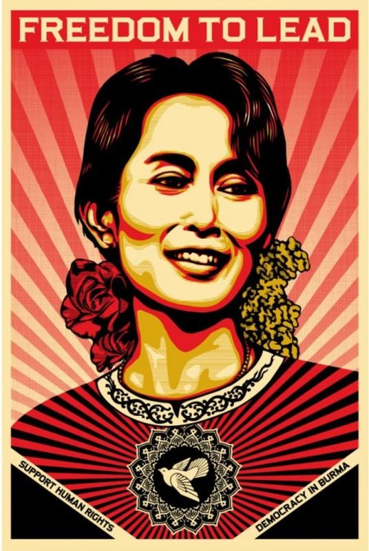 谢帕德·费瑞 - 版画 - Aung San Suu Kyi