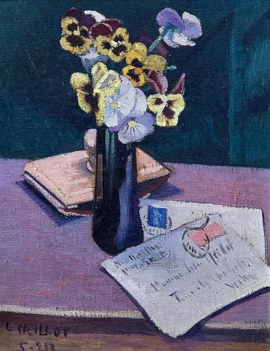 Louis NEILLOT - Pittura - Nature morte à la lettre