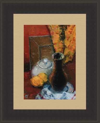 Levan URUSHADZE - Peinture - Two lemons & jug