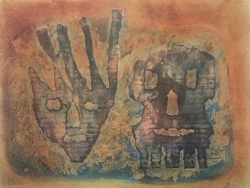 Petra Frieda PETITPIERRE - Pintura - Faux visages dit: Masques