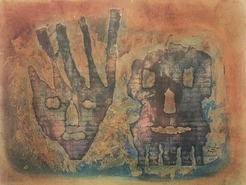 Petra Frieda PETITPIERRE - Painting - Faux visages dit: Masques