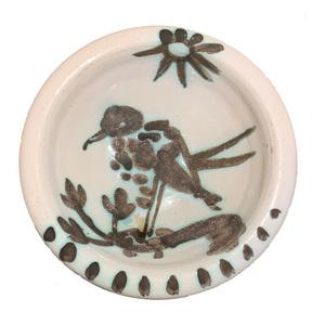 Pablo PICASSO - Ceramic - Oiseau sous le soleil