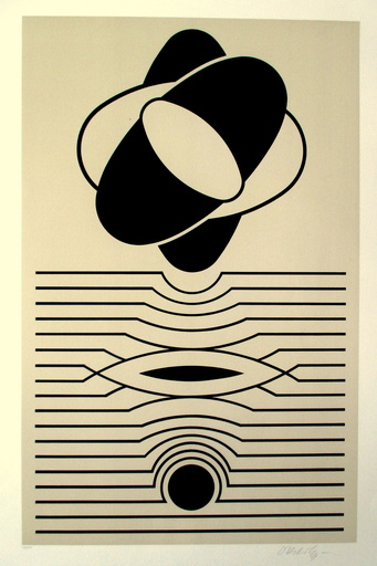 Victor VASARELY - Grabado - Composition