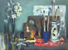 Eugène BABOULENE - Painting - Table de peintre