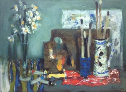 Eugène BABOULENE - Peinture - Table de peintre