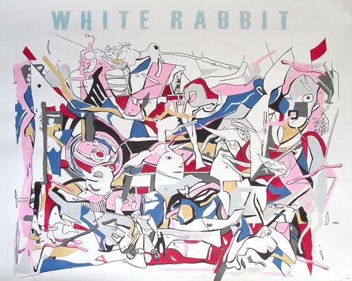 Iryna BEREZHKO & BONDERO - Painting - White Rabbit    (Cat N° 3559)