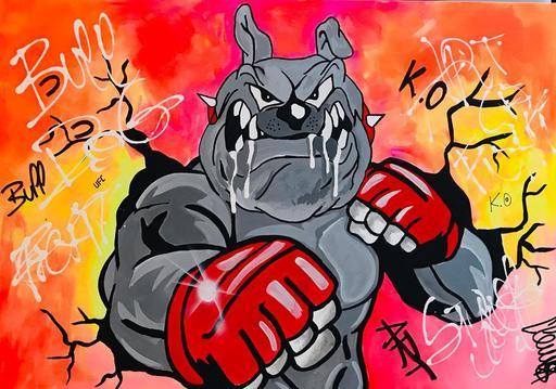 CLEMS - Peinture - Bull Fighter