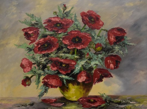 Eduard VON DEMBINSKI - Painting - Blumenstillleben