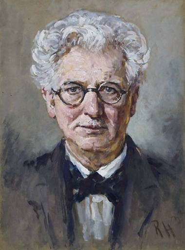 "Robert HEINRICH - Dessin-Aquarelle - ""Self-Portrait"" by Robert Heinrich (1864-1950)"