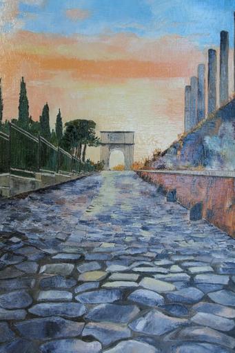 Monique DEVALOIS - Peinture - Via Sacra (Rome)