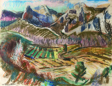 Willy EISENSCHITZ - Dibujo Acuarela - In den Alpillen