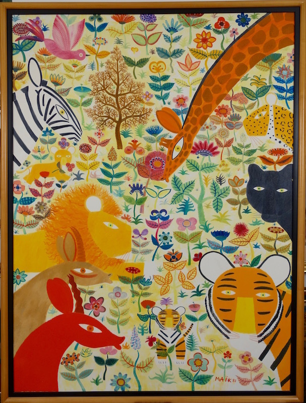 Henri hecht ma k dans un jardin artwork on the for Cd market galeria jardin
