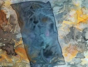 "Lorena ULPIANI - Drawing-Watercolor - ""Fondali dell'anima"" (2) - abstract"