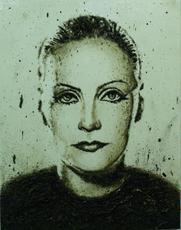 Enzo FIORE - Painting - Archivio Greta Garbo (0259/EF)