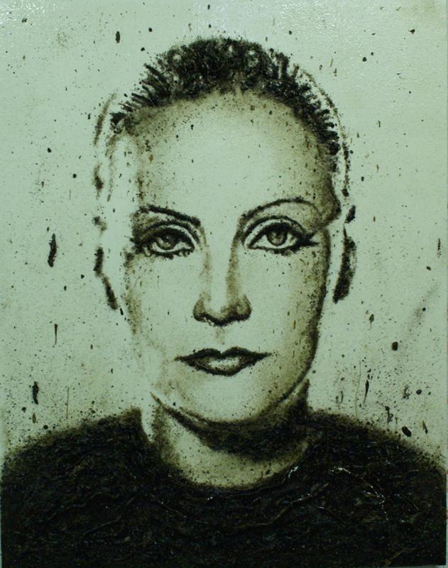 Enzo FIORE - Pittura - Archivio Greta Garbo (0259/EF)