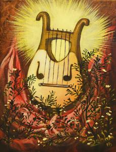 Carlos SABLÓN - Peinture - La Harpe