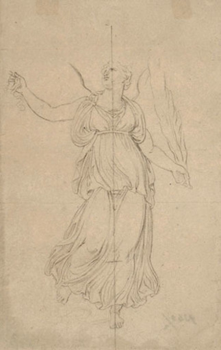 Andrea I APPIANI - Drawing-Watercolor - ALLEGORICAL FIGURE OF WINGED VICTORY