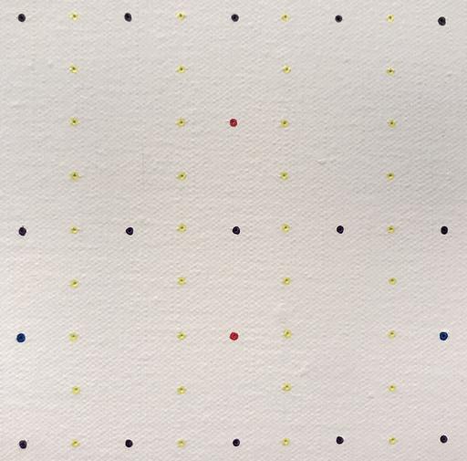 Antonio SCACCABAROZZI - Painting - Prevalenze 1-7 div. 2. V.O. (Verso il nero), 1976