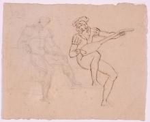 Johann Evangelist SCHEFFER VON LEONHARDSHOFF - Drawing-Watercolor - Drawing from the Artist's Estate