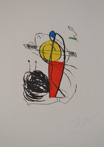 Joan MIRO - Estampe-Multiple - *D. 1136 Chanteur De Rues I