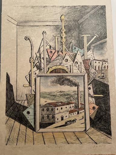 Giorgio DE CHIRICO - Druckgrafik-Multiple - Interno metafisico 1969