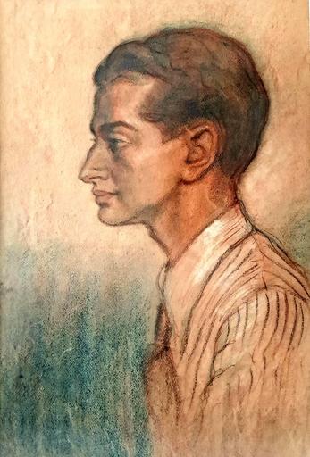 Seweryn SZRAJER - Disegno Acquarello - Profile of Young Man