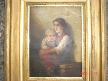 阿尔伯特•安卡 - 绘画 - la fille et l'enfant
