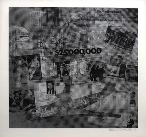 Robert RAUSCHENBERG - Stampa Multiplo - Surface Series from Currents #42