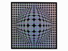 Victor VASARELY (1906-1997) - Op-Art Composition