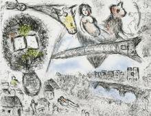 Marc CHAGALL - Estampe-Multiple - Songes: Tour Eifell