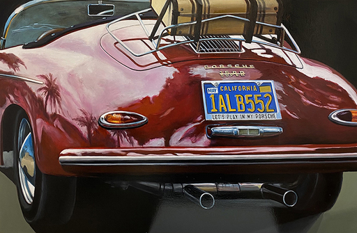 FABRIANO - Pintura - Un été à L.A. Porsche 356 A 1600 super