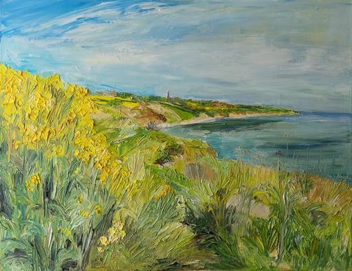 Ute MEYER - Painting - Field of canola II / Ærø
