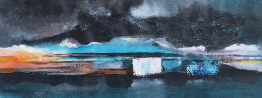 Michel CONSTANT - Painting - Ondes. Le bateau ivre. J'ai rêvé la nuit verte.