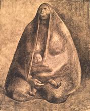 Francisco ZUÑIGA - Grabado - Mujer con nino