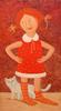 Roman ANTONOV - Painting - Girl in golfs