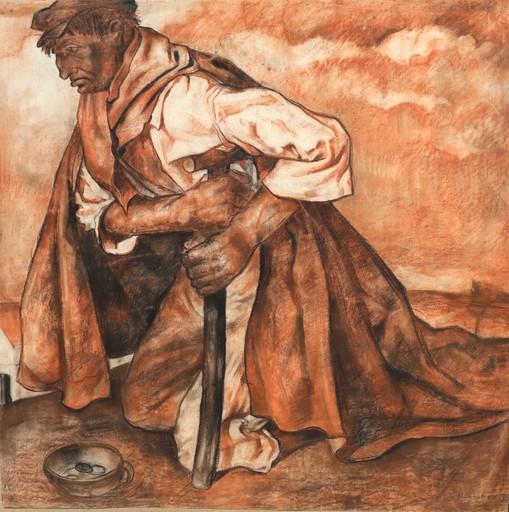 "Raymond DIERICKX - Drawing-Watercolor - ""L'ESTROPIE/NATURE MORTE"""