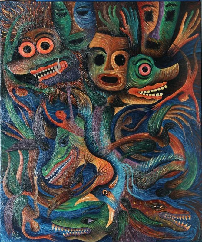 KUSBUDIYANTO - Painting - Tsunami