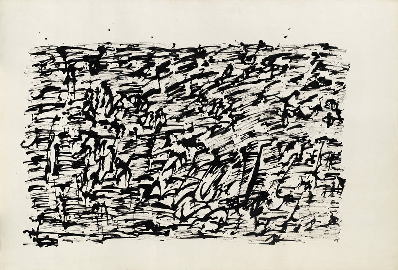 Henri MICHAUX - Drawing-Watercolor - Compositiiton