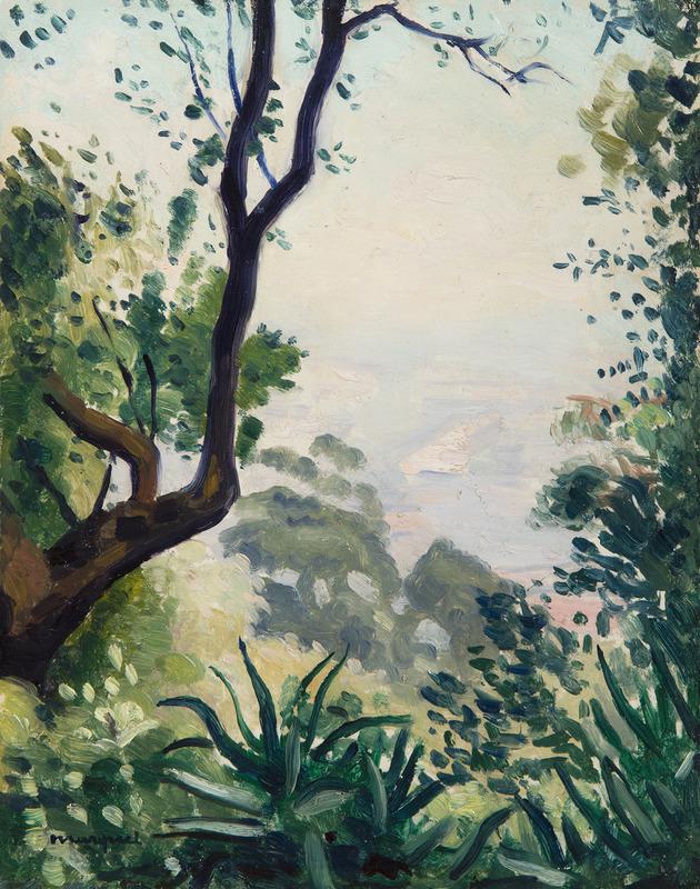 Albert MARQUET - Painting - Vue d'Alger depuis Mont-Riant