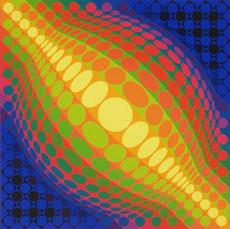 Victor VASARELY - Stampa Multiplo - VY 37 D Globes