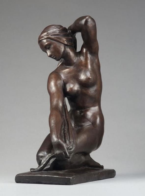 Fritz KLIMSCH - Sculpture-Volume - Knieende mit Badetuch