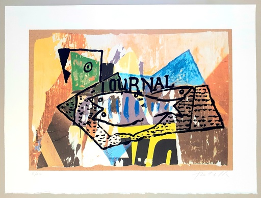Mimmo ROTELLA - Stampa Multiplo - Journal