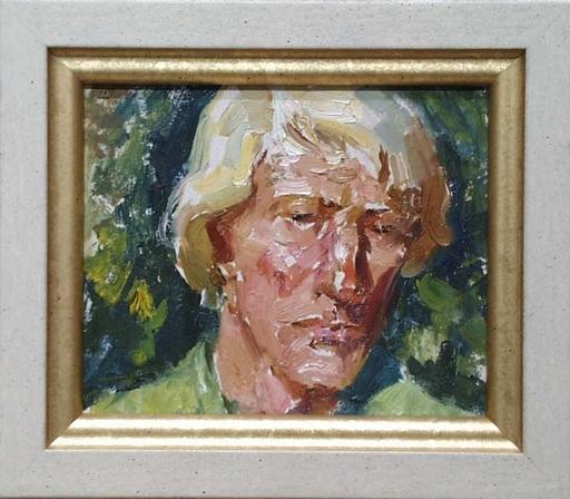 "Nikolai MAXIMENKO - Gemälde - ""Portrait of a Young Man"" by Nikolai Maximenko, ca 1960"