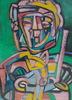 Frédérique MANLEY - Painting - Portrait cubiste