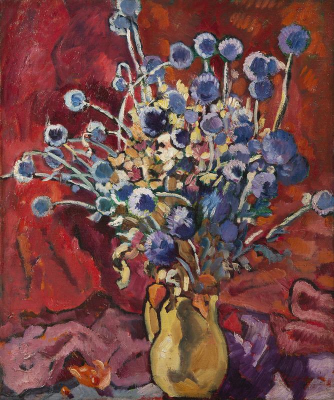 Louis VALTAT - Peinture - Bouquet de chardons