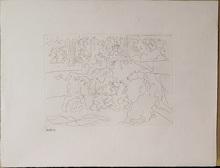 Pablo PICASSO (1881-1973) - TOREAUX E CHEVEUX DANS L'ARENE