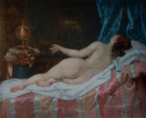 Manuel AMELL Y JORDA - Pintura -   Danaé- Nu /Desnudo-Dánae