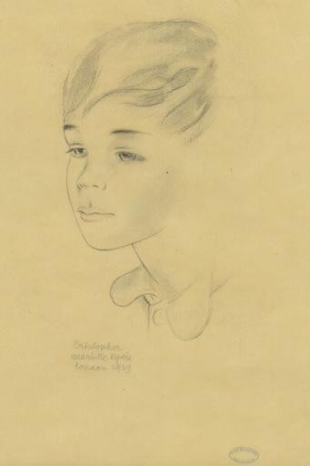 Mariette LYDIS - Dibujo Acuarela - DESSIN AU CRAYON SUR CALQUE SIGNÉ MAIN HANDSIGNED DRAWING