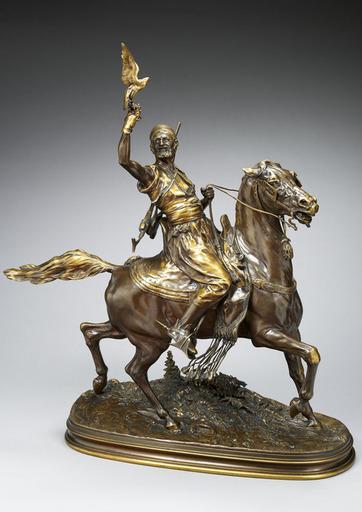 Pierre-Jules MÈNE - Sculpture-Volume - Le Fauconnier Arabe