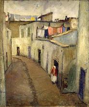 Auguste DUREL - Painting - Ruelle à Tunis (N°31)